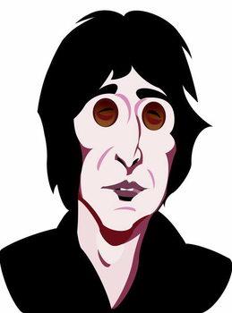 John Lennon, English singer, songwriter , colour 'graphic' caricature, 2005/10 by Neale Osborne Художествено Изкуство