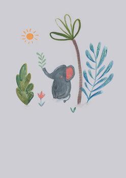 илюстрация Jungle elephant