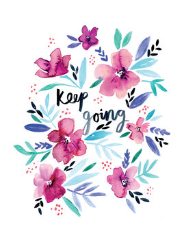 илюстрация Keep going