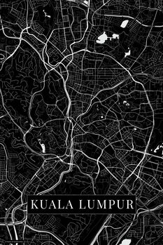 Карта на Kuala Lumpur black