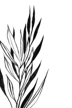 илюстрация Leaves line art