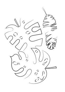 илюстрация Line leaves