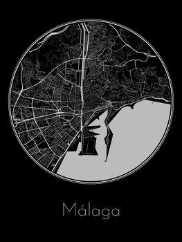Карта на Málaga