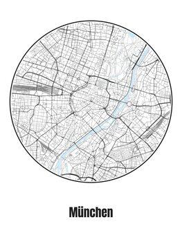 Карта на München