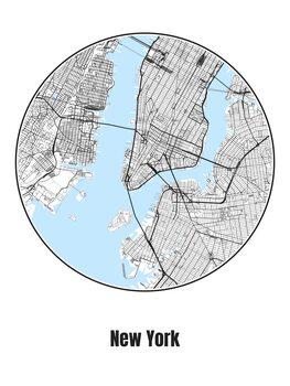 Карта на New York