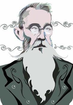 Nikolai Rimsky-Korsakov Russian composer , colour 'graphic' version of file image, 2006/2010 by Neale Osborne Художествено Изкуство