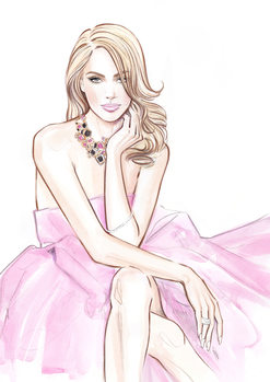 илюстрация Pink lightness