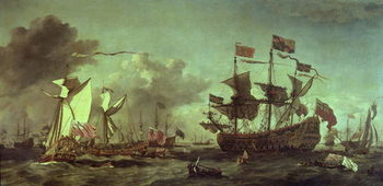 Royal Visit to the Fleet, 5th June 1672 Художествено Изкуство