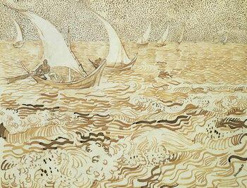 Seascape at Saintes-Maries-de-la-Mer, 1888 Художествено Изкуство
