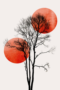 илюстрация Sun and Moon hiding