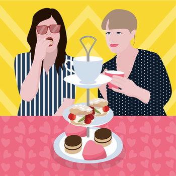 Tea Party Художествено Изкуство