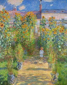 The Artist's Garden at Vetheuil, 1880 Художествено Изкуство
