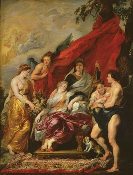 The Birth of Louis XIII (1601-43) at Fontainebleau, 27th September 1601, from the Medici Cycle, 1621-25 Художествено Изкуство
