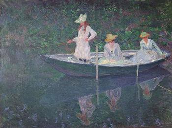 The Boat at Giverny, c.1887 Художествено Изкуство