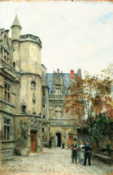 The Courtyard of the Museum of Cluny, c.1878-80 Художествено Изкуство