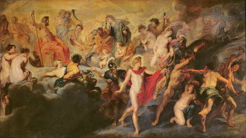 The Medici Cycle: Council of the Gods for the Spanish Marriage, 1621-25 Художествено Изкуство
