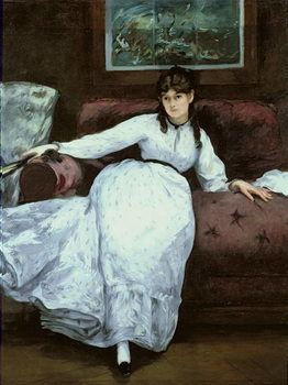 The Rest, portrait of Berthe Morisot (1841-95), 1870 Художествено Изкуство