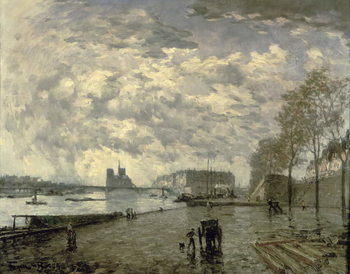 The Seine and Notre Dame Художествено Изкуство