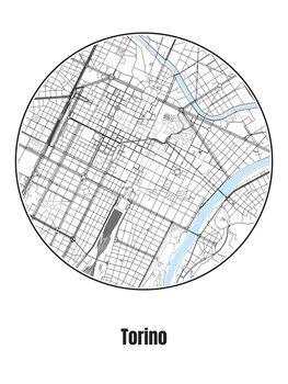 Карта на Torino