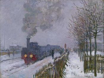Train in the Snow or The Locomotive, 1875 Художествено Изкуство