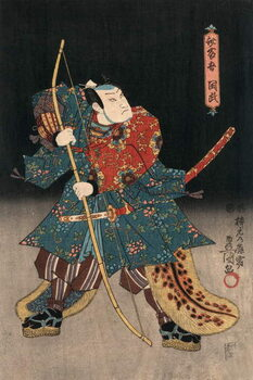 Ukiyo-e Print of an Actor Playing a Samurai by Kunisada Художествено Изкуство