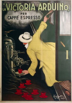 Victoria Arduino espresso coffee machine, by Leonetto Cappiello , illustration, 1922. Художествено Изкуство