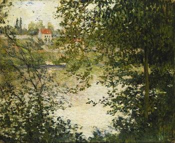 A View Through the Trees of La Grande Jatte Island; A Travers les Arbres, Ile de la Grande Jatte, 1878 Художествено Изкуство