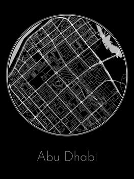 Map Abu Dhabi