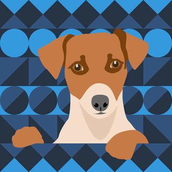 Aztec Dog Художествено Изкуство