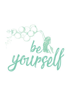 художествена фотография Be yourself - Blue