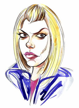 Billie Piper as Doctor Who's assistant Rose Tyler in BBC series Художествено Изкуство
