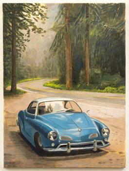 Blue Car Художествено Изкуство