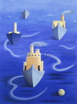 Boats in Harbour, 1994 Художествено Изкуство