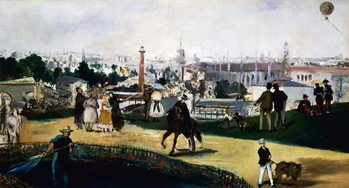 Edouard Manet , View of the Universal Exposition in Paris, 1867, oil on canvas. France, 19th century. Художествено Изкуство