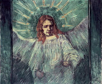 Head of an Angel, after Rembrandt, 1889 Художествено Изкуство