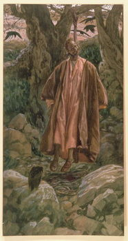 Judas Hangs Himself, illustration for 'The Life of Christ', c.1886-96 Художествено Изкуство