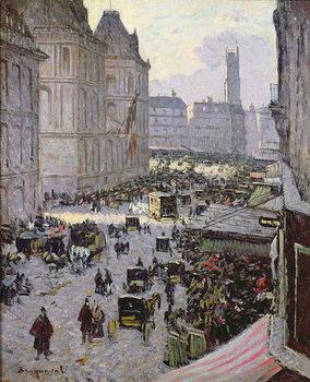 Paris Street Scene Художествено Изкуство
