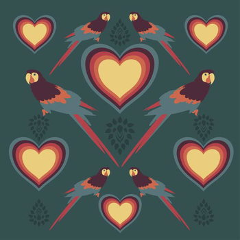 Parrot Love Художествено Изкуство