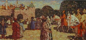 Sunday, Old Russia, 1904 Художествено Изкуство