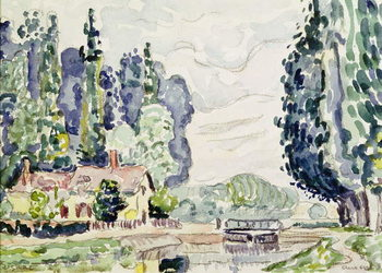 The Blue Poplars, 1903 Художествено Изкуство