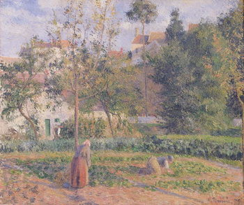Vegetable Garden at the Hermitage, Pontoise, 1879 Художествено Изкуство
