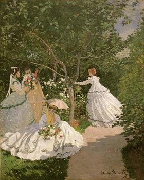 Women in the Garden, 1866 Художествено Изкуство