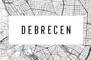 Kaarten van Debrecen