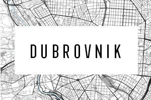 Cartine di Dubrovnik