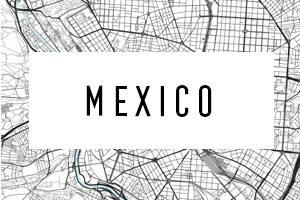 Karte Meksiko