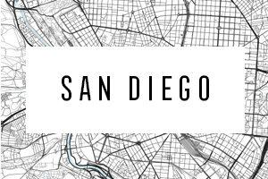 Mapy San Diego