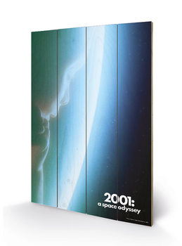 Poster su legno 2001: A Space Odyssey - Space Baby
