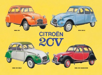2CV COLLAGE Metalplanche