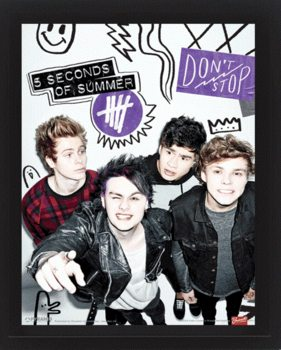 5 Seconds of Summer - Single  3D plakat indrammet