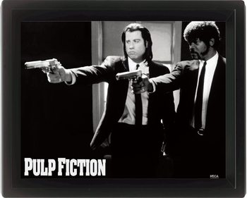 PULP FICTION - guns 3D plakat indrammet